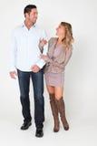 Счастливые пары имея потеху Стоковая Фотография RF