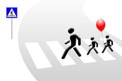 счастливые пешеходы Стоковое Фото