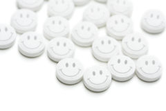 счастливые пилюльки Стоковое фото RF