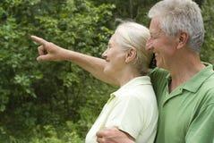 Счастливые пожилые пары стоковое фото