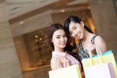 Счастливые покупатели Стоковое Изображение RF