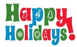 Счастливые праздники с иконами Стоковое Изображение RF