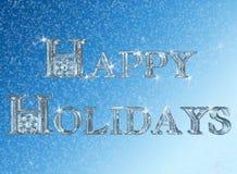 счастливые праздники иллюстрация вектора