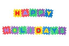 счастливые праздники Стоковое Изображение