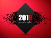 Счастливые предпосылка Нового Года 2018 абстрактная Знамя с влиянием взрыва Стоковая Фотография
