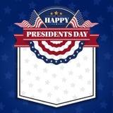 Счастливые президенты День Знамя Предпосылка и поздравительные открытки бесплатная иллюстрация
