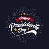 Счастливые президенты День Знамя Предпосылка и поздравительные открытки также вектор иллюстрации притяжки corel иллюстрация вектора