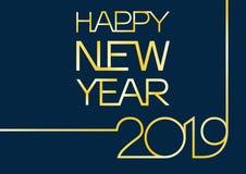 Счастливые приветствия 2019 Нового Года иллюстрация вектора