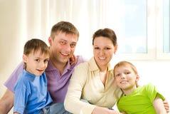 Счастливые родители с дет Стоковые Фото