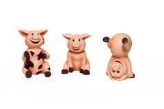 счастливые свиньи Стоковая Фотография