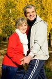 счастливые старшии Стоковые Фото