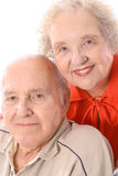 счастливые старшии headshot вертикальные Стоковая Фотография RF