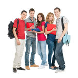 счастливые студенты совместно Стоковое фото RF