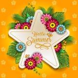 Счастливые цветки лета Стоковые Фото