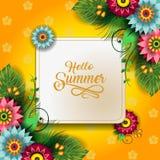 Счастливые цветки лета Стоковая Фотография