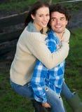 Счастливые человек и женщина совместно стоковая фотография rf