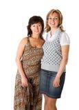счастливые 2 женщины стоковая фотография