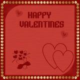 счастливые valentines Стоковое Изображение
