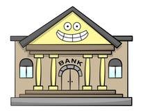 Счастливый банк иллюстрация вектора