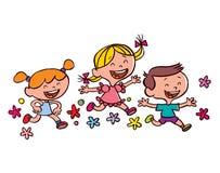 Счастливый бежать детей Стоковое Фото