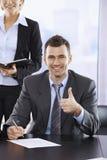 Счастливый бизнесмен стоковая фотография rf