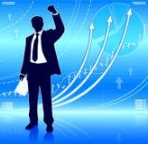 Счастливый бизнесмен иллюстрация вектора