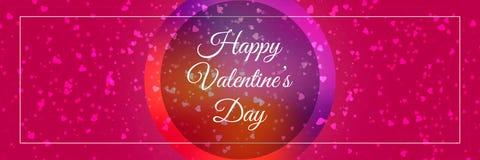 Счастливый вектор знамени текста дня ` s валентинки Стоковые Фотографии RF