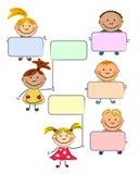 счастливый вектор малышей Стоковые Изображения