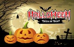 Счастливый вектор сообщения тыквы хеллоуина бесплатная иллюстрация