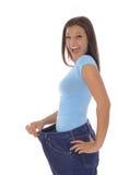 счастливый вес потери Стоковое Изображение RF