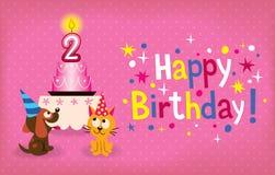 Счастливый второй день рождения   Стоковые Фотографии RF