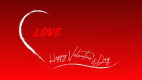Счастливый день Валентайн - слова в открытом сердце полном любов иллюстрация вектора
