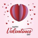 Счастливый день Валентайн с попом сердца иллюстрация штока