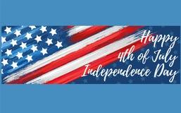 Счастливый День независимости 4-ое -го июль стоковая фотография rf