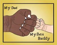 Счастливый день отцов бесплатная иллюстрация