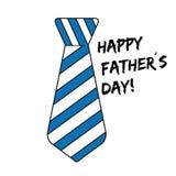 Счастливый день отцов - связь с нашивками - значок вектора - изолированный на белизне иллюстрация вектора