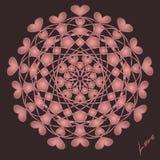 Счастливый день Святого Валентина, карта вектора иллюстрация штока