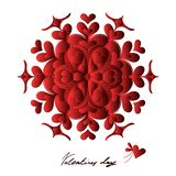 Счастливый день Святого Валентина, карта вектора стоковые фото