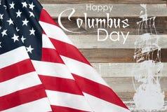 Счастливый день columbus соединенные государства флага стоковое изображение