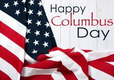 Счастливый день columbus соединенные государства флага стоковое изображение rf