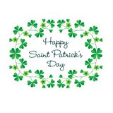Счастливый день Patricks Святого в рамке shamrock Стоковое Изображение
