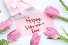 Счастливый день ` s женщин стоковое изображение rf