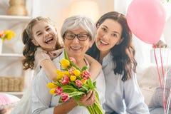 Счастливый день ` s женщин стоковая фотография
