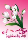 Счастливый день ` s женщин just rained карточка 2007 приветствуя счастливое Новый Год иллюстрация вектора