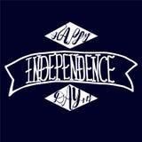 Счастливый дизайн вектора текста Дня независимости стоковое фото rf