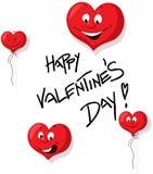 Счастливый дизайн дня валентинок с сердцем Funy - вектором Стоковое Фото