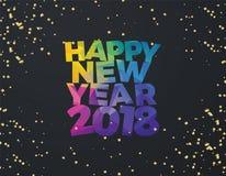 Счастливый дизайн знамени иллюстрации вектора Нового Года 2018 Стоковая Фотография