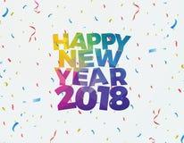 Счастливый дизайн 2018 знамени иллюстрации Нового Года Стоковая Фотография
