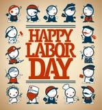 Счастливый дизайн карточки Дня Трудаа, иллюстрация вектора бесплатная иллюстрация
