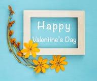 Счастливый дизайн карточки дня ` s валентинки Стоковые Изображения RF